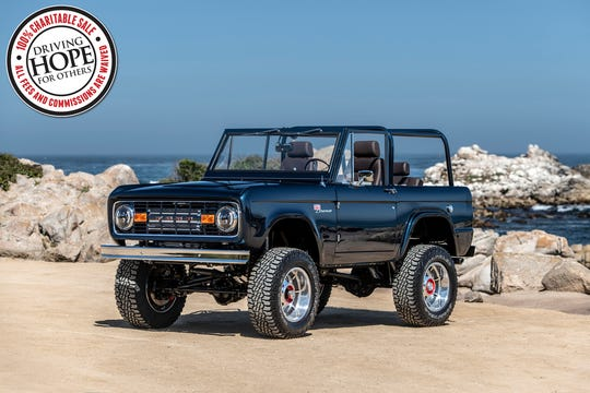 This 1974 Ford Bronco was commissioned by NASCAR driver Ryan Blaney and built by Gateway Bronco as a tribute to Ryan's late grandfather, race car driver Lou Blaney.
