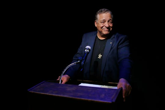 """Professor Charles St. Clair delivers Martin Luther King Jr.'s 'I Have a Dream"""" speech as written, his copy highlighted in yellow, though King sometimes diverted from the text. To St. Clair, the words are sacred. """"It's from my heart and my soul,"""" he says."""
