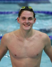 Lourdes' Michael Faughnan, pictured here in January, had a strong showing at the state swimming championships.