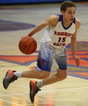 San Angelo Central's Joseph Rowe makes a move toward the basket during a game against Hurst Bell at Babe Didrikson Gym on Friday, Jan. 17, 2020. The Bobcats lost 72-54.