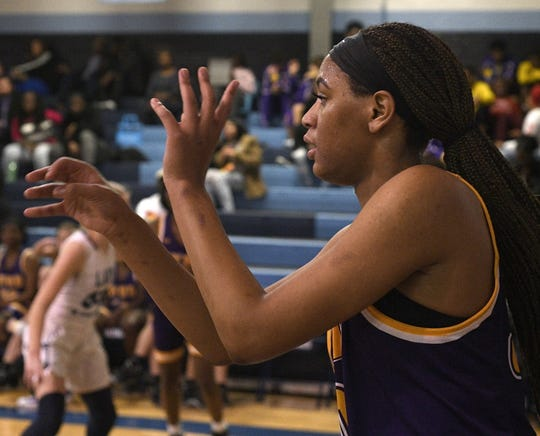 Byrd's K.C. Sims awaits a pass against Airline Friday night in District 1-5A action.