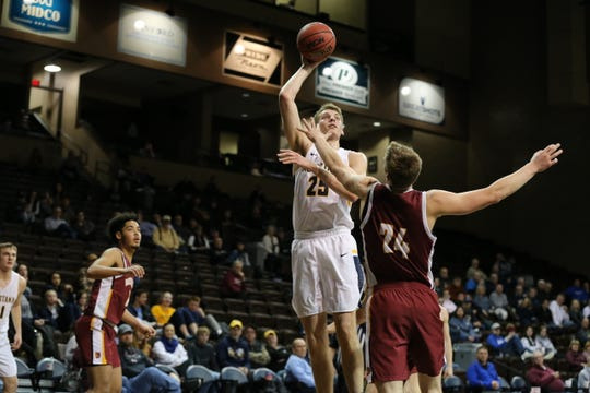 Augustana's Tyler Riemersma is the only player in the NSIC averaging a double-double.