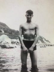 15-year-old Bill Cunningham at Islandmagee in Northern Ireland before immigrating to Canada a few years later.