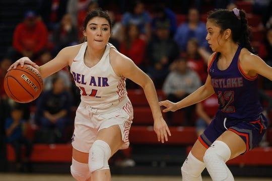 Bel Air's Sophia Mota during the game against Eastlake Friday, Jan. 17, at Bel Air's new gym in El Paso.