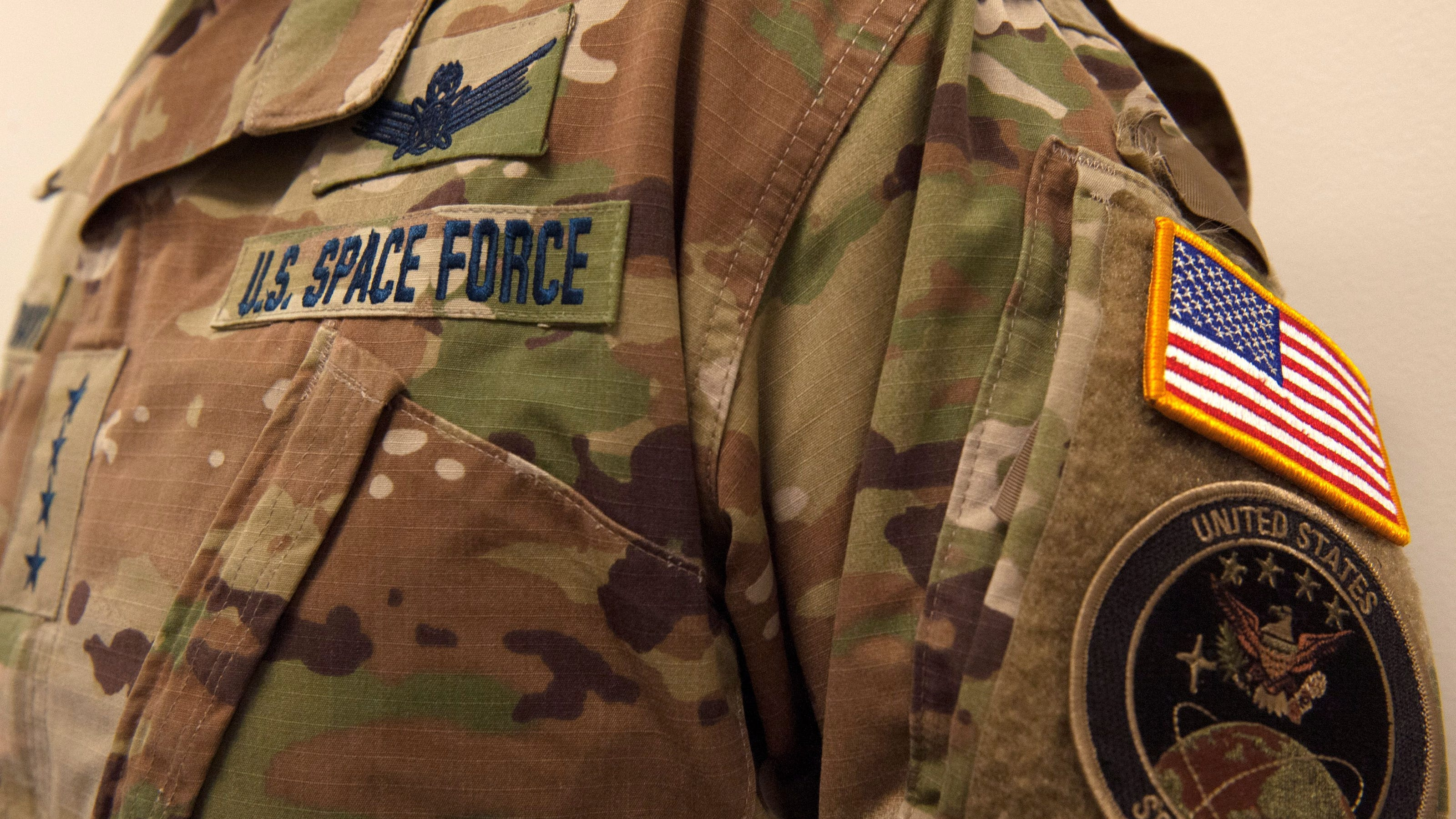 Us Space Force Uniform It S Camo To Save Money Military Says