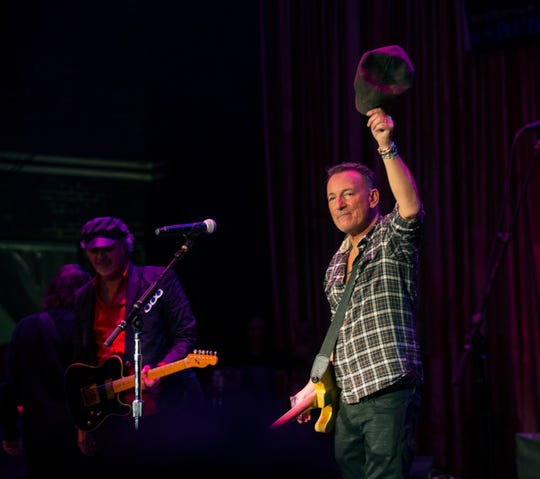 Bruce Springsteen performs with Joe Grushecky & the Houserocker perform at Bob's Birthday Bash at the Light of Day 20th Anniversary celebration at the Paramount Theatre in Asbury Park on January 18, 2020.