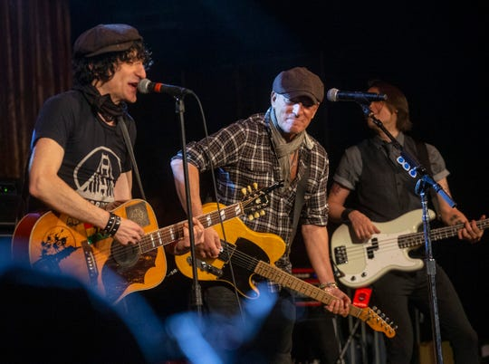 Bruce Springsteen performs with Jesse Malin at Bob's  Birthday Bash at the Light of Day 20th Anniversary celebration at the Paramount Theatre in Asbury Park on January 18, 2020.