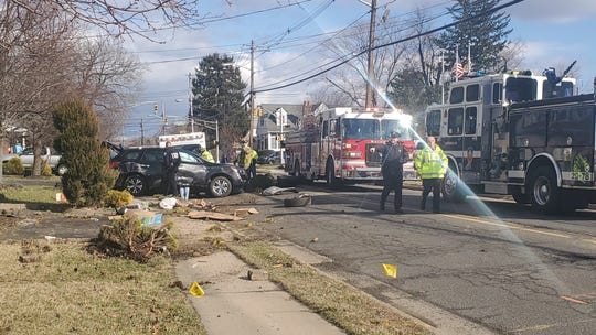 Police investigate a car crash in Matawan that happened Sunday.