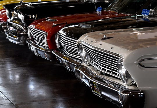 Classic cars are lined up at Fort Sam Military and Antique Vehicles, Haskell County Museum in Haskell Jan. 2. The privately-owned museum is open Friday and Saturday each week and is free to the public.
