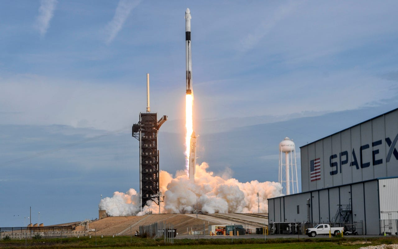A SpaceX Falcon 9 rocket carrying the Crew Dragon capsule lifts off from Kennedy Space Center Sunday morning during its In-Flight Abort Test. Mandatory Credit: Craig Bailey/FLORIDA TODAY via USA TODAY NETWORK