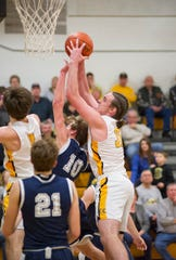 Chase Walker's size in the paint will be key to CC's success against Ottawa-Glandorf.