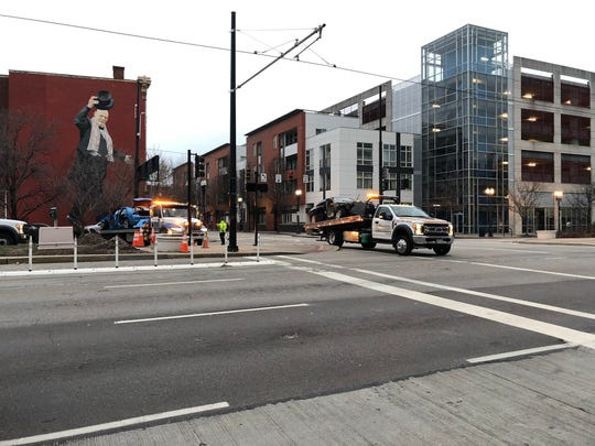 One person is dead and six people are injured after a crash involving seven people happened downtown early Sunday morning, said Sgt. Michael Hudephol.