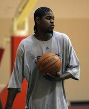 Pistons forward Amir Johnson on May 8, 2007.