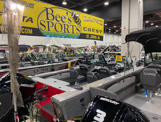 Bee's Sports at the Detroit Boat Show on Jan. 18