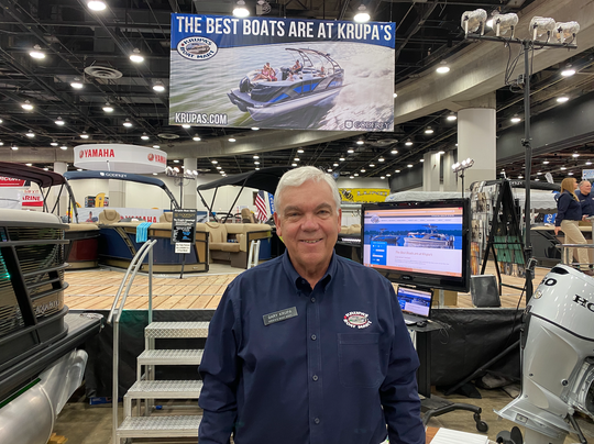 Gary Krupa of Krupa's Boat Mart at the Detroit Boat Show on Jan. 18