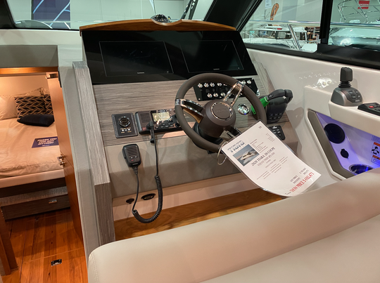 New displays and technology at the Detroit Boat Show on Jan. 18