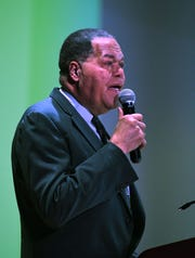 Eleventh Annual MLK Legacy Awards recipient Luther Keigh founder of ARISE Detroit speaks during the event.