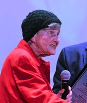 Eleventh Annual MLK Legacy Awards recipient Barbara Bushy speaks during the event.