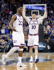 Sviatoslav Mykhailiuk knocked down 115 3-pointers as a senior at Kansas, including a big one to knock off Duke in the NCAA Tournament Elite Eight.