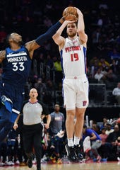 Sviatoslav Mykhailiuk leads the Pistons in 3-point shooting percentage (44.5%)