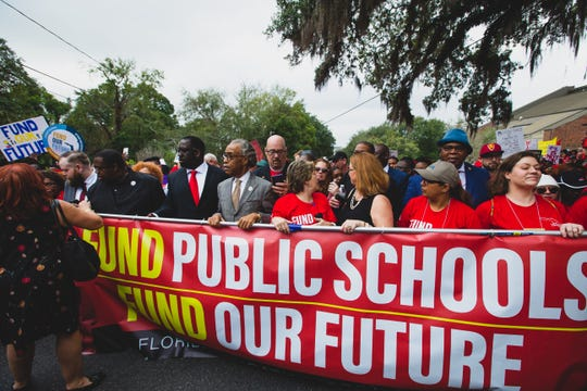 Reverend Al Sharpton was one of many influential speakers who attended the march to fund public schools.