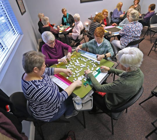 Players enjoy games at the Fishers Mah Jongg Center, Wednesday, Jan. 15, 2020.