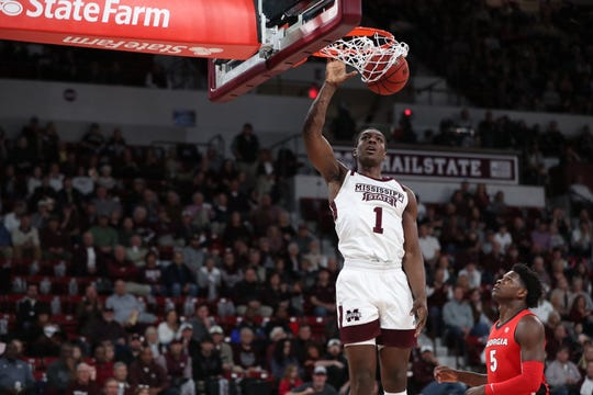 Mississippi State sophomore forward Reggie Perry scored 22 points and grabbed 12 rebounds to lead his team to victory over Georgia.