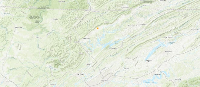 A 2.8 magnitude earthquake shook Fincastle, Tennessee in Campbell County on Sunday, January 19, 2020.