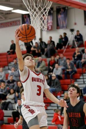 Freshman guard Braeden Shrewsberry scored 14 points on Monday night.