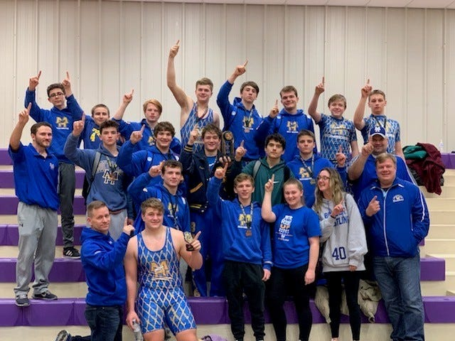 The Mountain Home Bomber wrestling team captured the tournament championship at the Bobcat Winter Blowout on Saturday in Berryville.