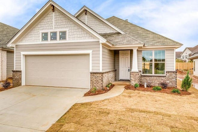 One Hedgefield Drive home built in 2019 is for sale for $236,400 and includes three bedrooms and two bathrooms within 1,670 square feet of living space.