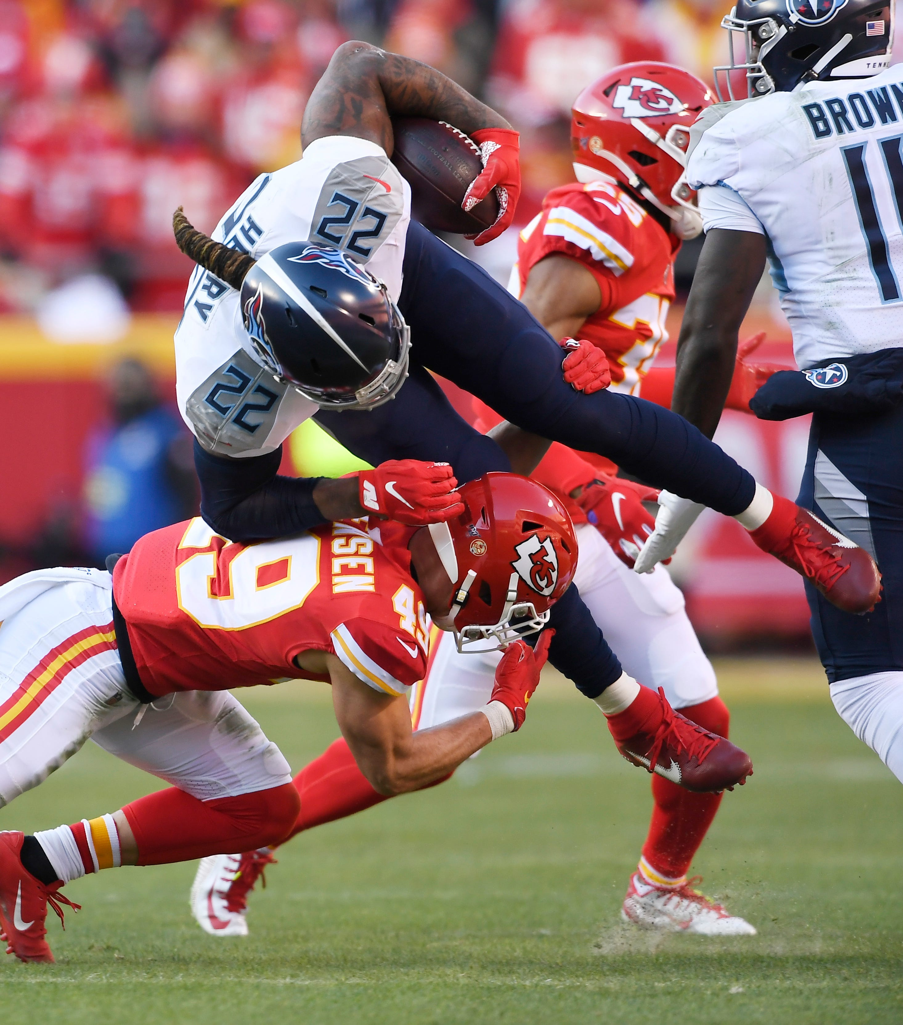 Opinion: Odds finally catch up with Tennessee Titans in AFC championship loss to Chiefs