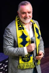 Nashville SC Chief Executive Officer Ian Ayre speaks during the Nashville SC 2020 Kit Reveal Party at Wildhorse Saloon Saturday, Jan. 18, 2020, in Nashville, Tenn.