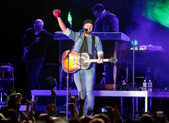 Luke Bryan performs during the American Express Concert Series at the PGA West Driving Range in La Quinta, Calif., on Saturday, January 18, 2020.