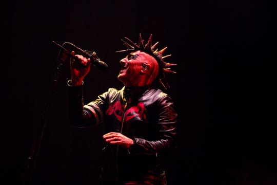 Maynard James Kennan leads Tool into the FedExForum on Friday for a concert.