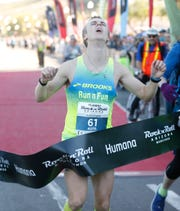 Brendan Sage wins the Humana Rock 'n' Roll Marathon in Tempe on Jan. 19, 2020.