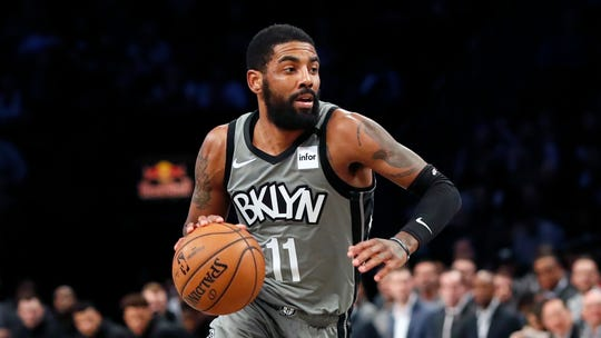 Brooklyn Nets guard Kyrie Irving during a game Jan. 14, 2020, in New York.