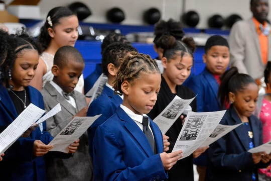 Lincoln Charter School students sing during the 8th annual MLK Sunday Supper, Sunday, January 19, 2020,John A. Pavoncello photo