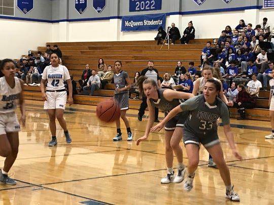 Spanish Springs beat McQueen, 52-24, in girls basketball on Friday at McQueen.