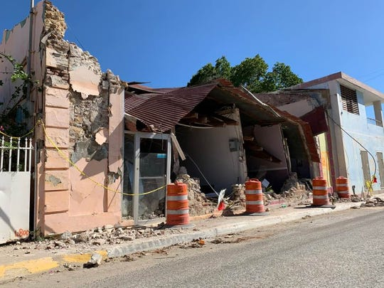 A building in Guanica, in southern Puerto Rico, is one of many that have crumbled from recent earthquakes.