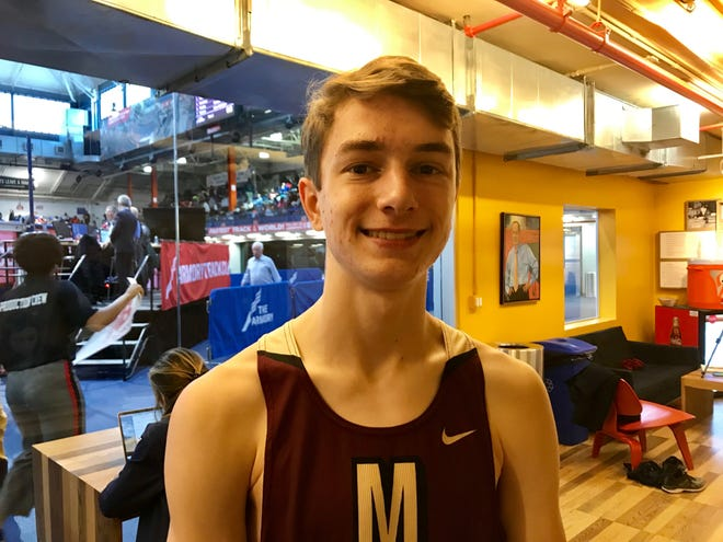 Pittsford Mendon's Sam Lawler at The Armory in New York City on Saturday.