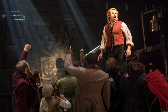 "Matt Shingledecker as Enjolras in the new national tour of ""Les Miserables."""