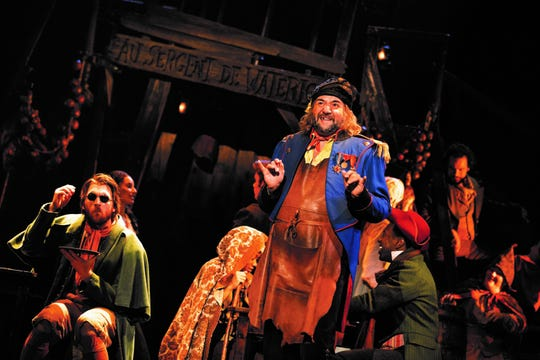 "Jimmy Smagula as Thenardier in the touring production of ""Les Miserables."""