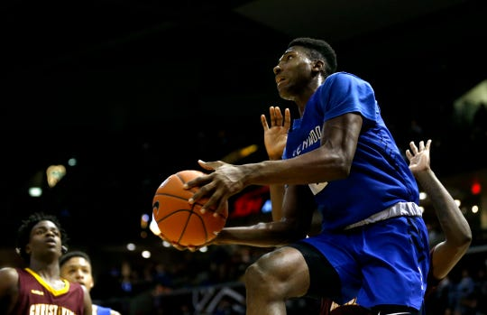 The Greenwood Bluejays fell to the Christ the King Royals during the Bass Pro Shops Tournament of Champions at JQH Arena on Saturday, Jan. 18, 2020.