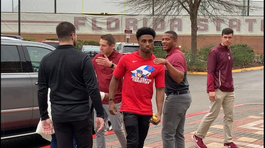Three-star athlete Corey Wren at FSU for his official visit.