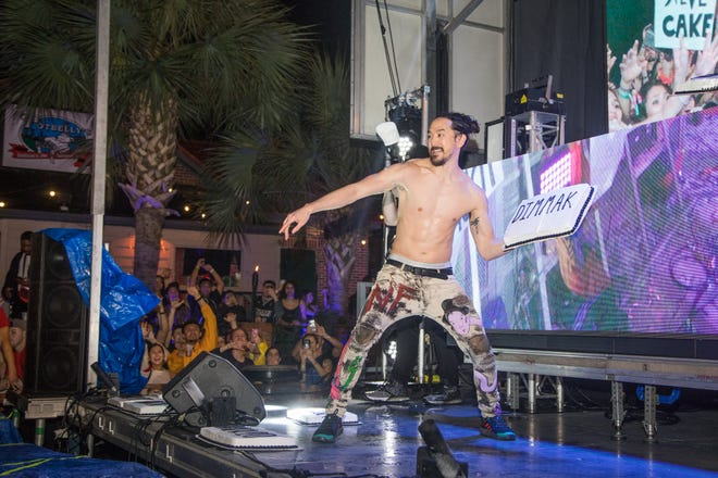 Electronic dance music DJ Steve Aoki performed at Potbelly's College Avenue block party Saturday, Jan. 18, 2020.