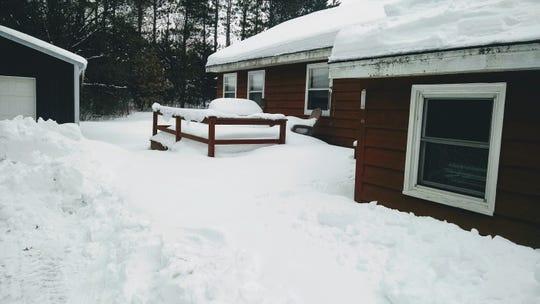 2019 snow at Roshara in Waushara County.