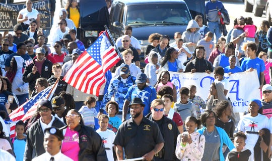 The 2020 Cocoa Martin Luther King, Jr. Peace March began at Provost Park, and marched east on King Street (S.R. 520) to Riverfront Park in Cocoa Village, where the event continued.