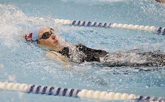 Leah Luckett from Kings swims the girls 200 yard individual medley during the 2020 Southwest Ohio Swimming and Diving Classic at Keating Natatorium in Cincinnati Sunday, Jan. 19, 2020.