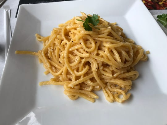 Nauti Cajun Crab in Metuchen is the brainchild of husband and wife Ryan and JennyMai. The New Street restaurant opened in October and has quickly developed a following eager for its freshly prepared seafood and sauces. Garlic noodles is one of the most popular dishes.